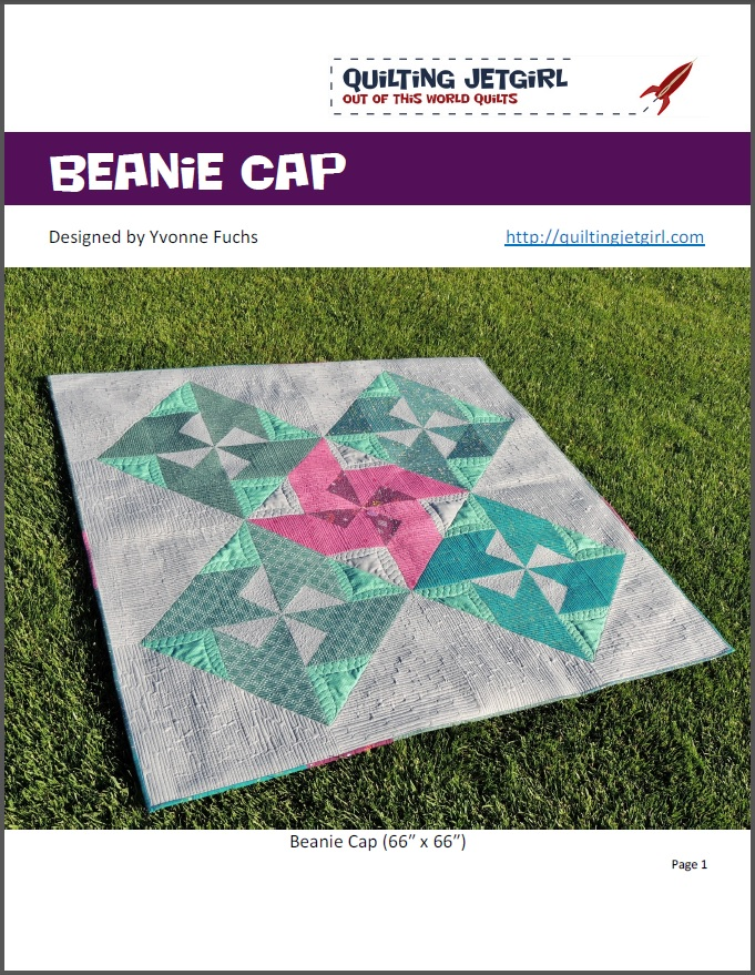 Beanie Cap Quilt Pattern by Quilting Jetgirl