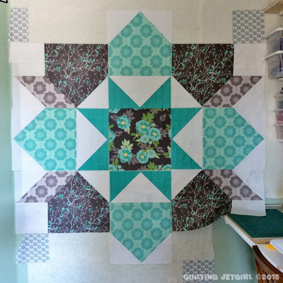 Giant Swoon Block - WIP - Waiting on More Fabric