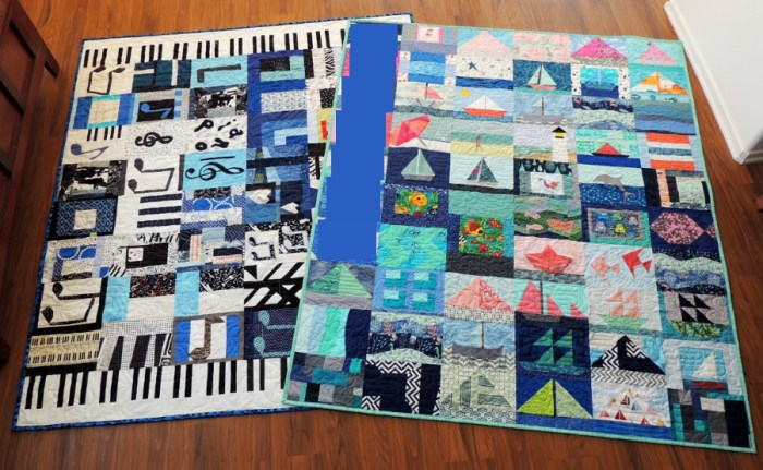 Mr. L and Miss A's Completed Quilts