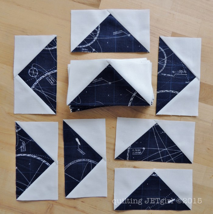 Midnight Mystery Quilt - Fun Flying Geese Blocks