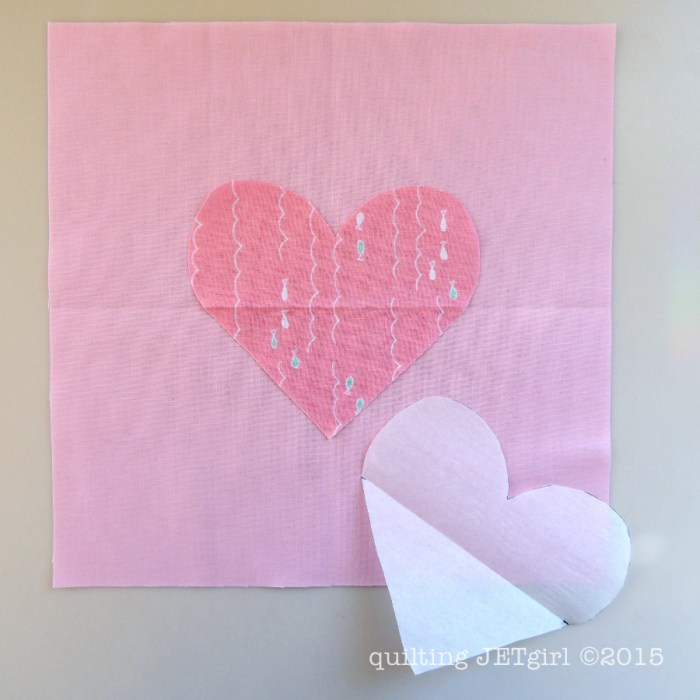 Applique Heart Block Tutorial Step 2