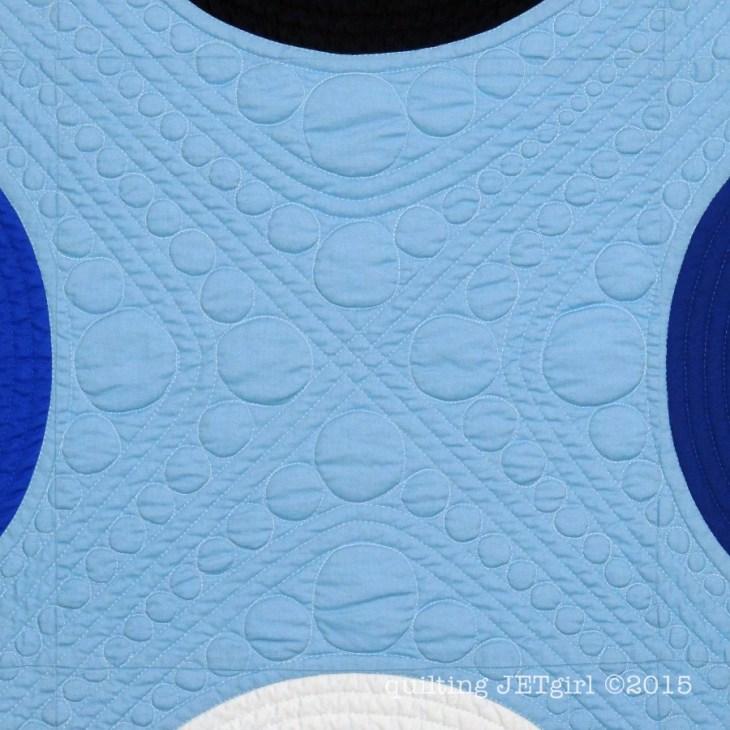Connection Block Mini Quilt - Quilting Detail