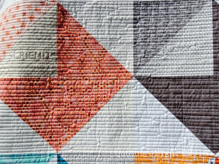 Love Letters Quilt - Quilting Details (My Husband is my best friend, and I feel cozy with him)