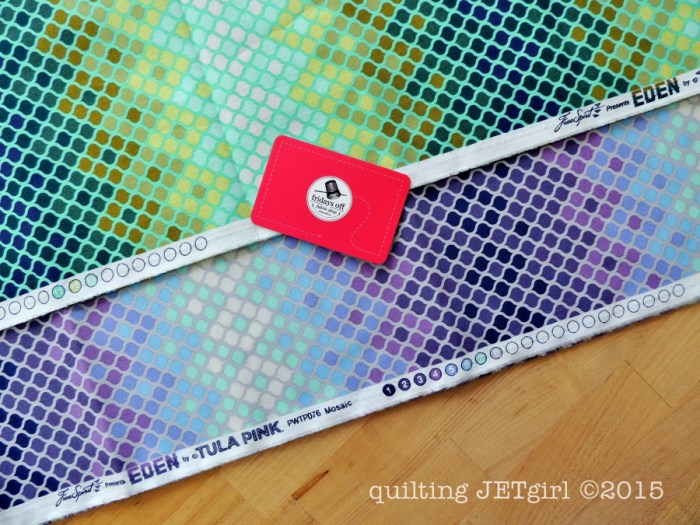 Sunday Stash: Tula Pink Eden, Mosaic in Moss and Mosaic in Glacier