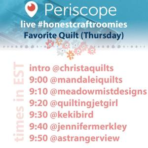 #HonestCraftRoomies - Favorite Quilt (Thursday)