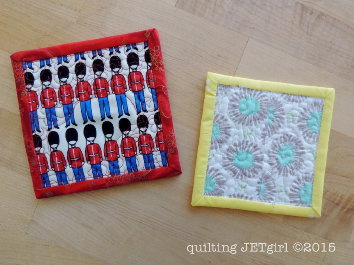 Mini Mini Quilts 19 & 20 - Backings