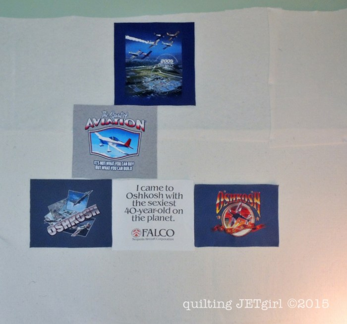 Missing Man TShirt Quilt: Oshkosh Formation