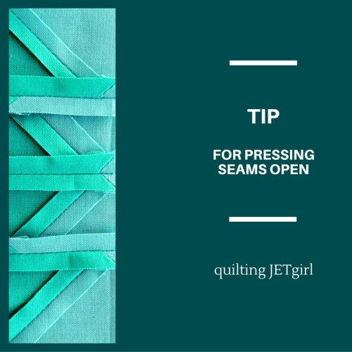 Tip for Pressing Seams Open