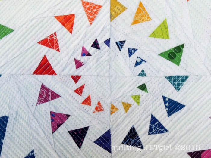 Triple Goosed Mini Quilt - Center Detail