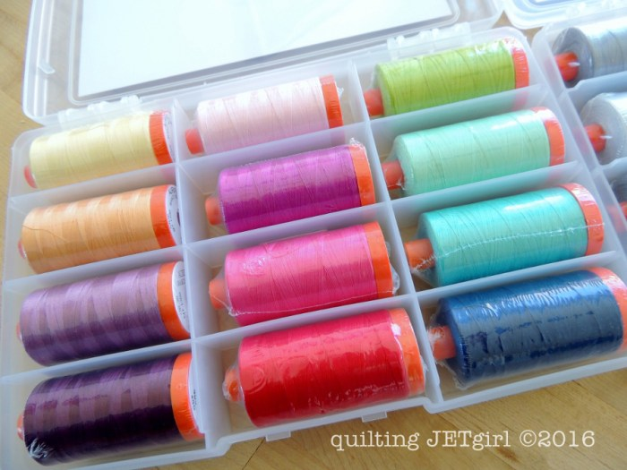 Aurifil Thread Box: V and Co.'s Simply Colorful
