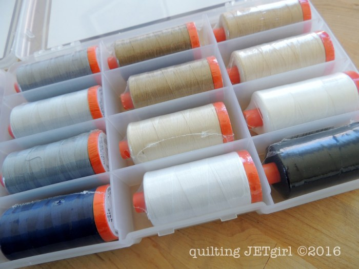 Aurifil Thread Box: FQS Exclusive Piecing Box
