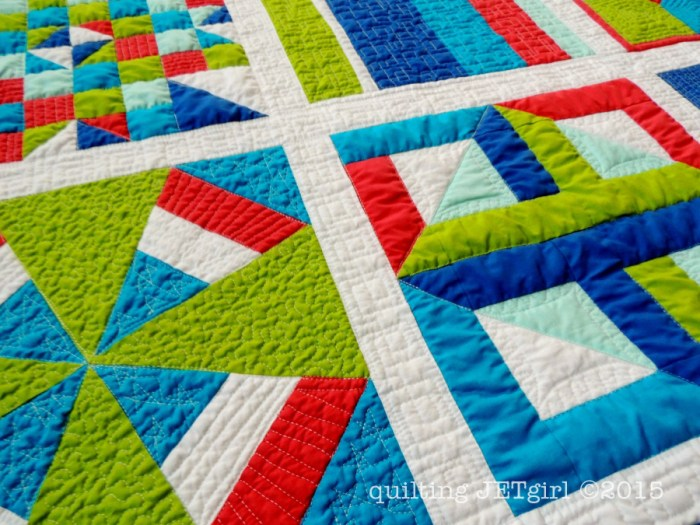Lap Charity Quilt - Post Wash Detail