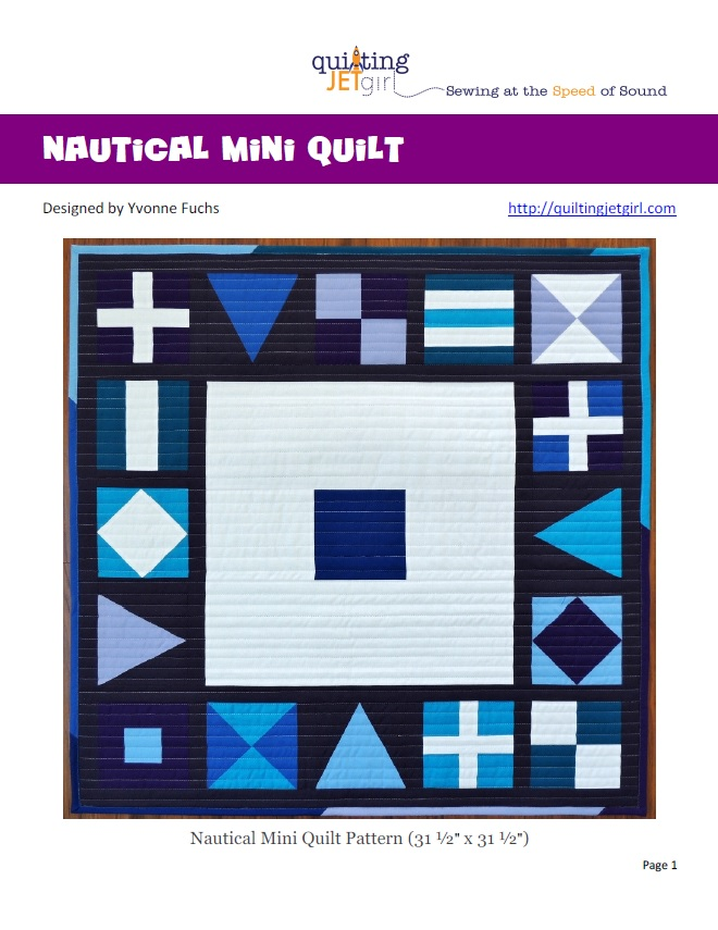 Nautical Mini Quilt PDF Cover