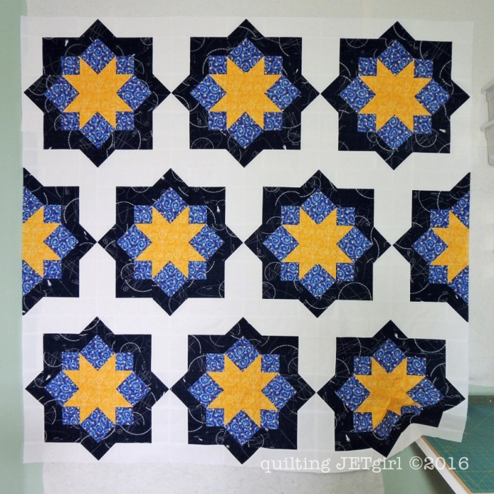 Midnight Mystery Quilt - Pieced Quilt Top