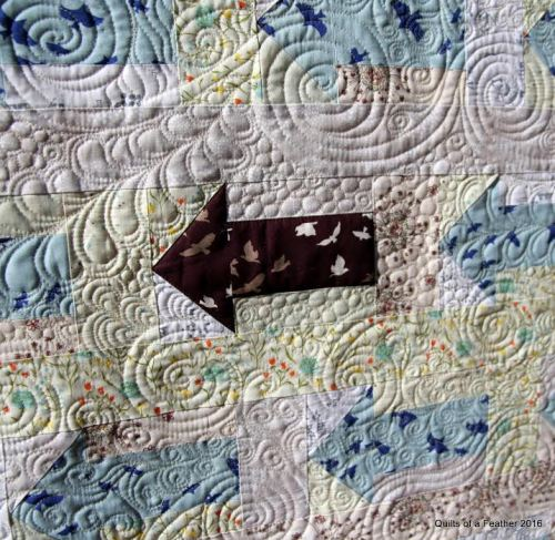 Red Herring Quilting Detail by Renee @Quilts of a Feather