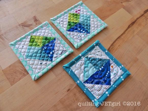 Mini Mini Quilts - 4.25 inches square