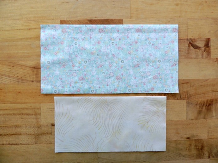 Sewing Full Circles: Press Fabric in Half, Right Sides Together