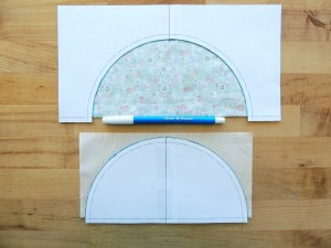 Sewing Full Circles: Align Templates and Trace Half Circles