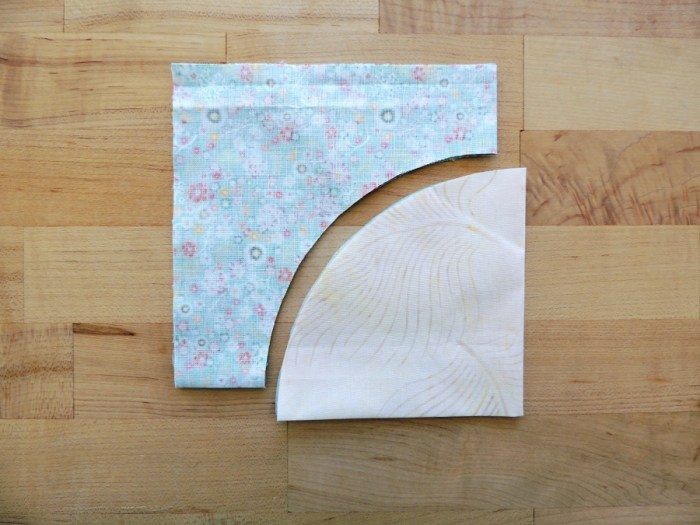 Sewing Full Circles: Create Indication Marks, Press into Quarters