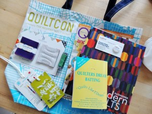 QuiltCon Giveaway Swag Bag 1