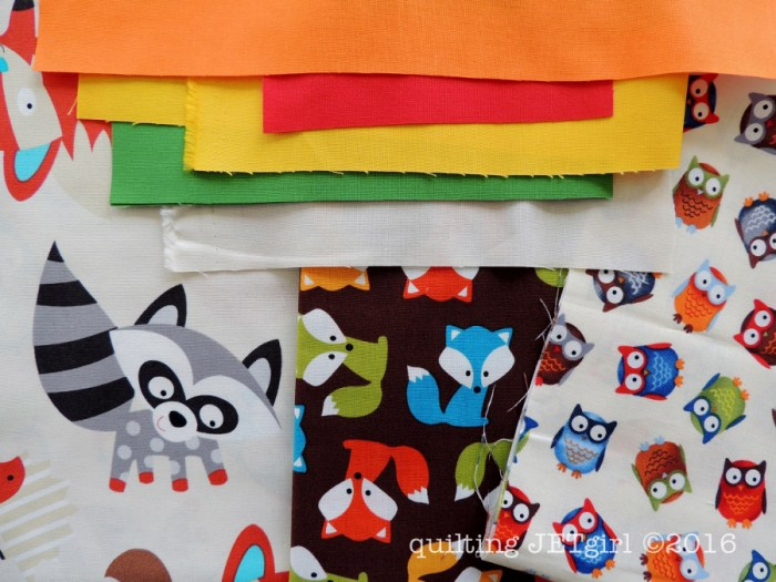 Woodland Animals Baby Quilt Fabrics