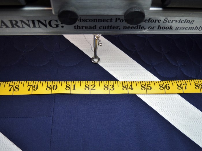 Long Arm Straight Line Reference Tip: Tailor's Tape