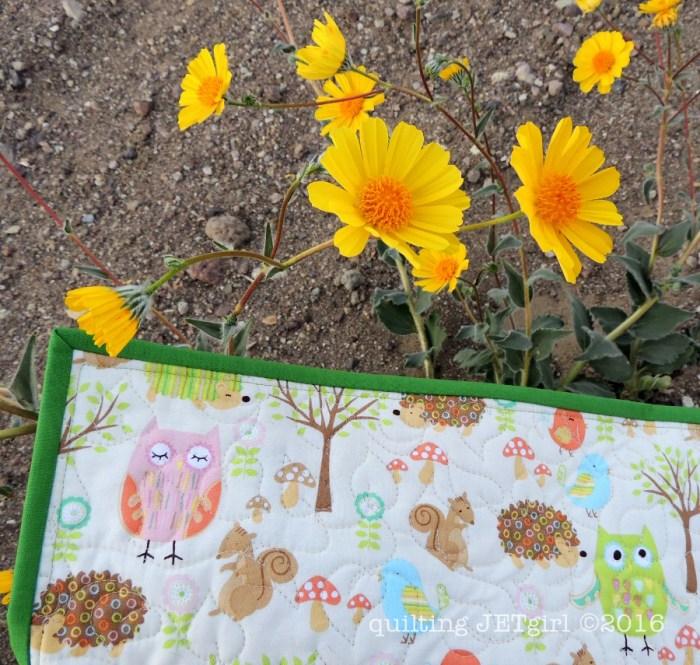 Woodland Animals Baby Quilt - Quilting Detail