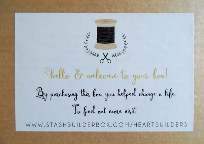 Stash Builder Box: Heart Builders