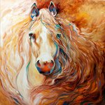 Blazing Mane Golden Palomino by Marcia Baldwin