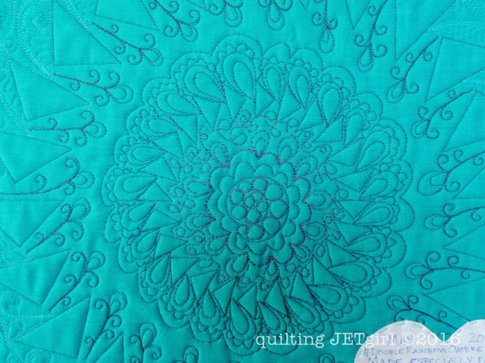 Ombre Mini Quilt - Backing