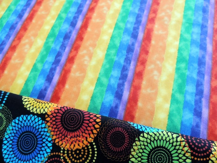 Rainbow Rose QAL - Backing and Binding Fabric