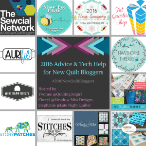 Week 1 of the 2016 New Quilt Bloggers Blog Hop