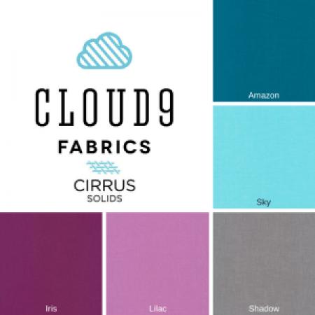 2016 Cloud9 Cirrus Solids New Block Blog Hop Color Palette - Berry Harvest Palette