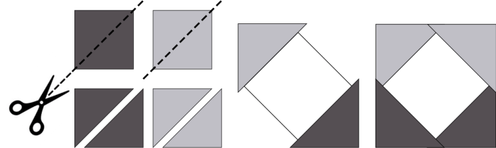 Square in a Square Piecing
