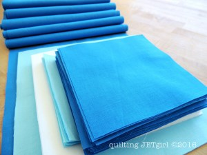 Snowflake Shimmer in Blue - Fabric Preparation
