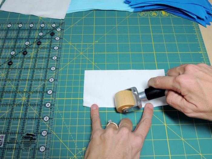Square in a Square Tutorial - Fold in Half and Press