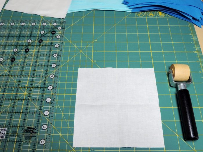 Square in a Square Tutorial - Pressed Block Ready for Piecing