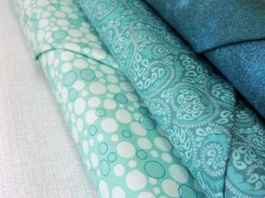 Triangle Transparency Sample Fabric Bundle: Teal