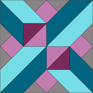 Berry Crossing Block - Colorway 2