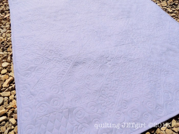Lucent Baby Quilt - Backing / Quilting Detail