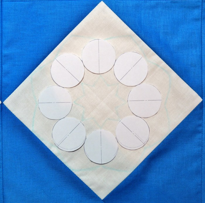 Using the Snowflake Shimmer Quilting Template - Step 3