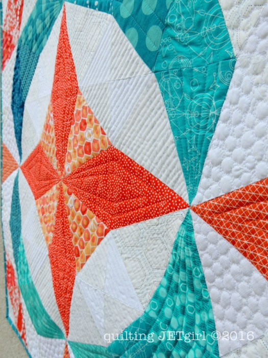 Kaleidoscope Mini Quilt - Quilting Detail