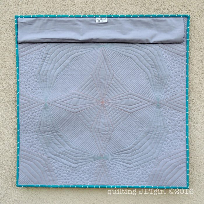 Kaleidoscope Mini Quilt - Back of Mini Quilt