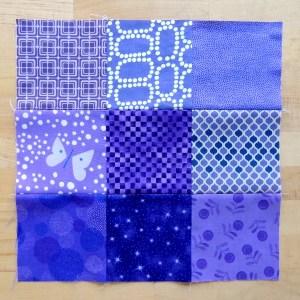 October Stash Bee Block - Purple