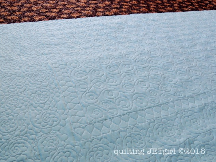 Quilting Detail on Backing