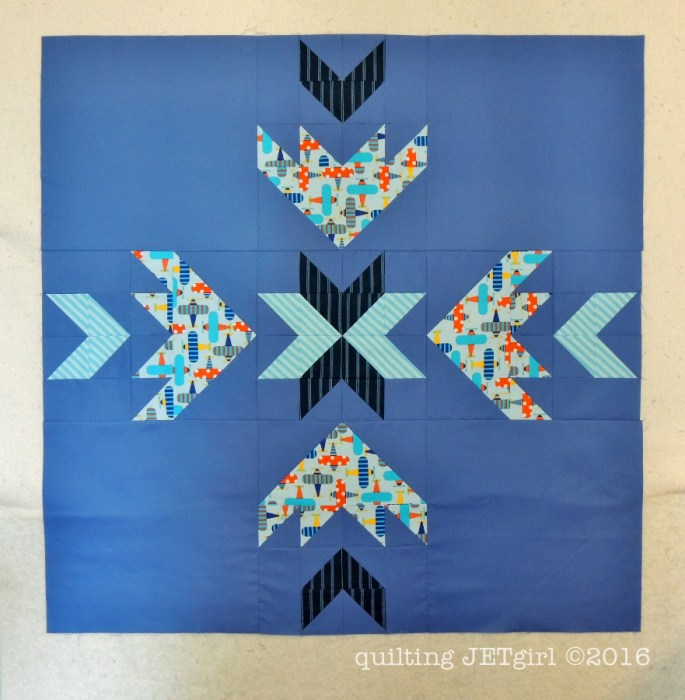 Ready, Set, Fly Baby Quilt Pieced Top