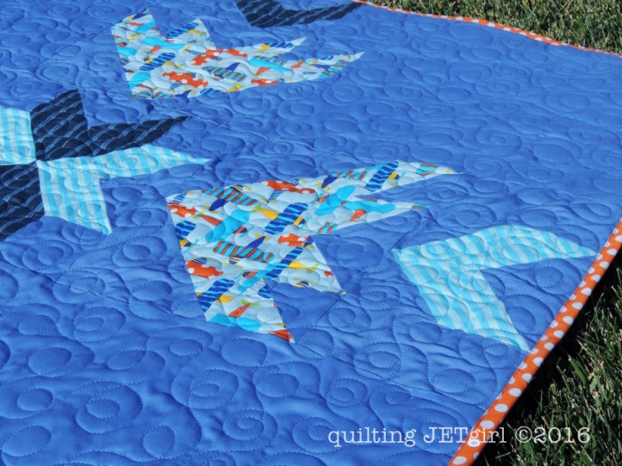Ready, Set, Fly Baby Quilt - Binding