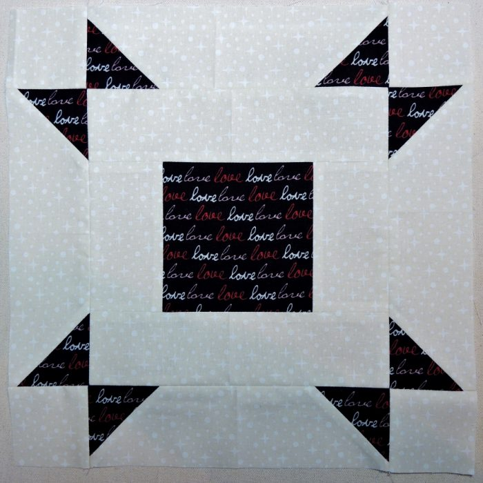 Layer Cake Pop Quilt Block with Directional Fabric