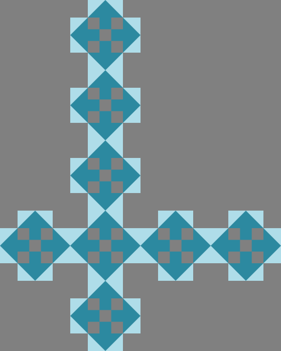 Four Way Block - More Modern Quilt Layout