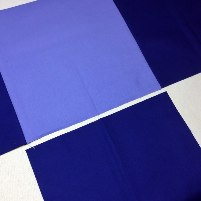 Piecing On Point Blocks - Pressed Folds